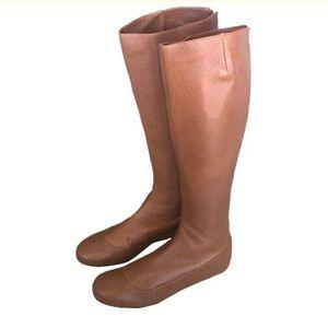 Lanvin Paris NWOT Tan Leather Knee Boots